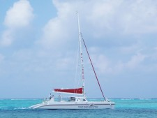 Sailing Cayman on 65' Catamaran with Red Sail Sports